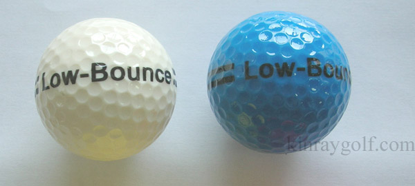 Standard two piece low bounce golf ball