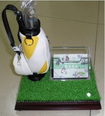 golf bag pen holder with name card box