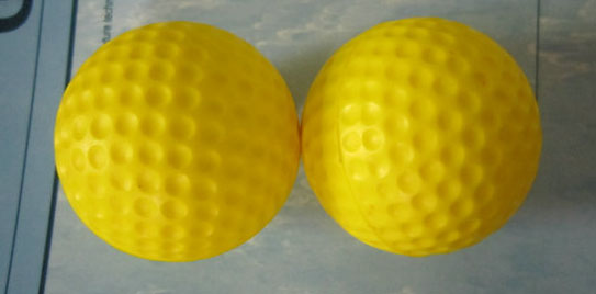 Yellow Foam golf ball