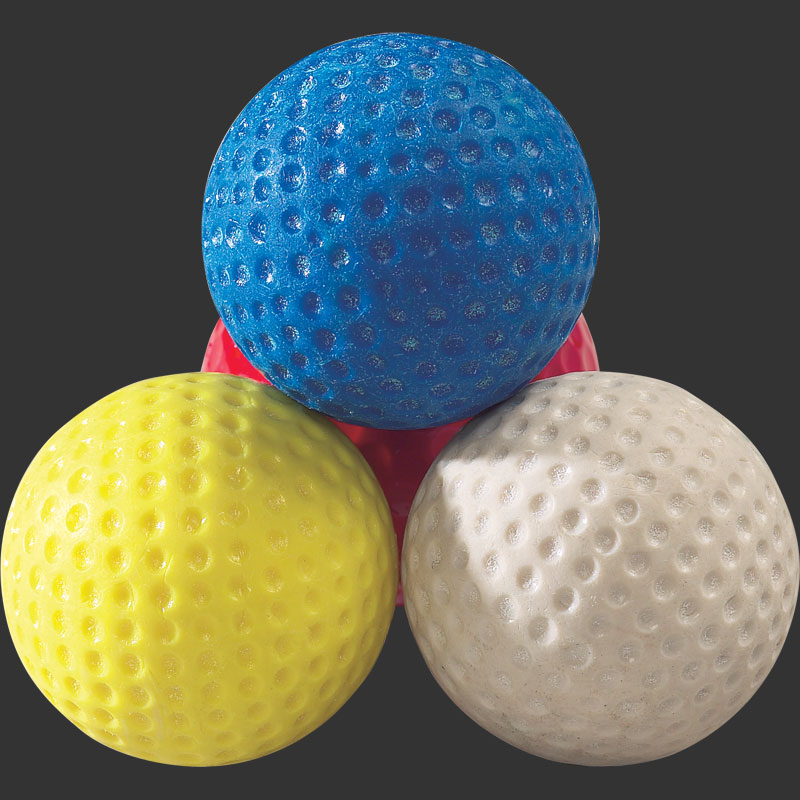 Low bounce golf ball